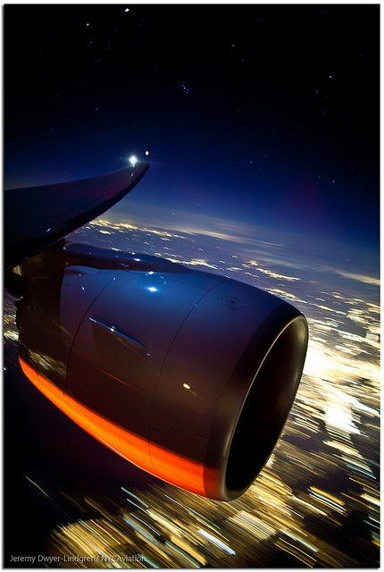 Jet Engine At Night