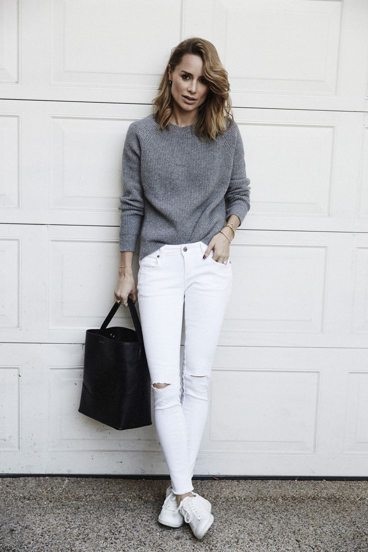 Best 25+ White jeans outfit ideas on Pinterest | White jeans ...