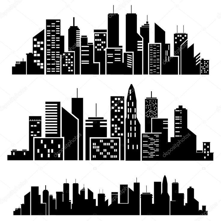 Silhueta de cidades de vetor