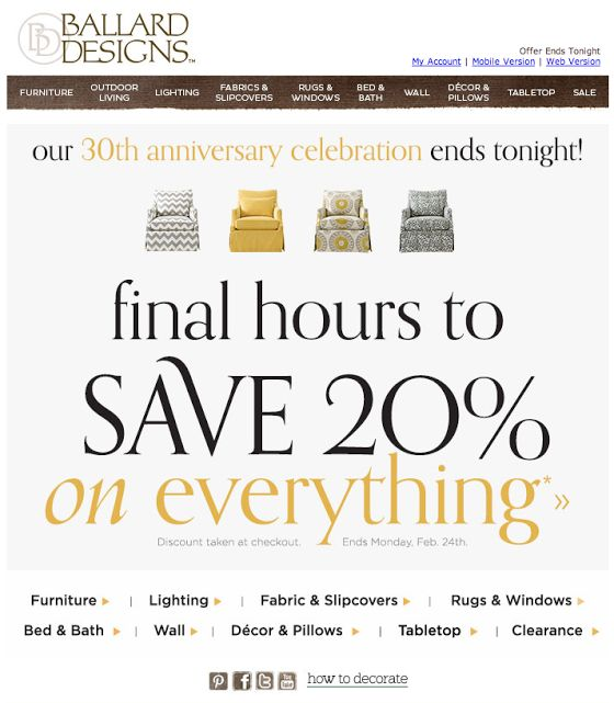 Email coupons offers