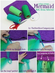 Mermaid Tutu Dress | Criss-Cross Tutorial & Supplies