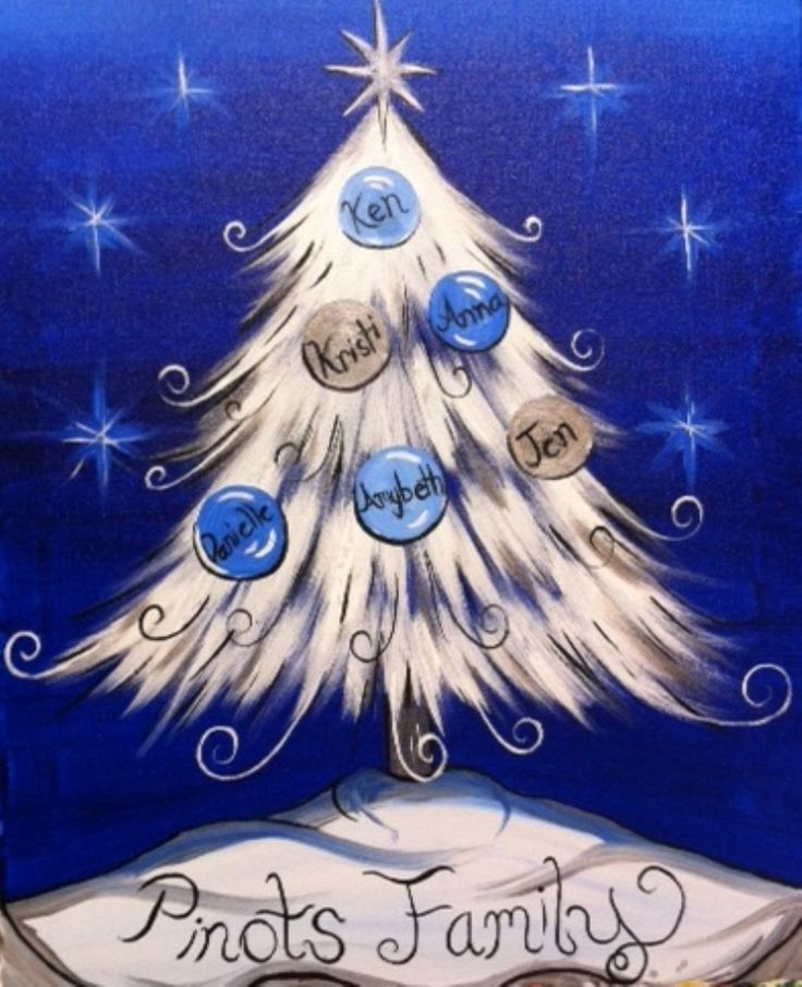 I am going to paint Elegant Family Christmas Tree at Pinot's Palette - Brandon to discover my inner artist!