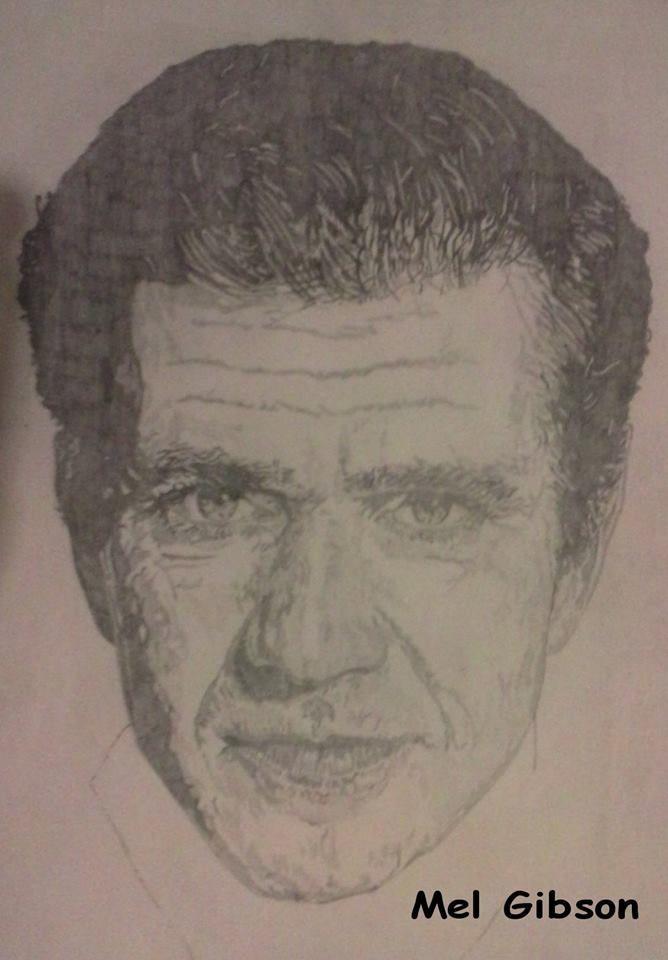 Mel Gibson Artist : Jackie Bateman