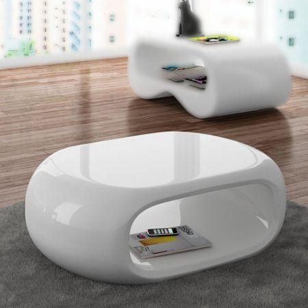 mesa de centro ovalia 77 - mesa blanca