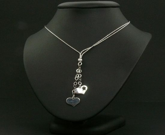 925 ezrelékes ezüst lánc logó szíves medállal.