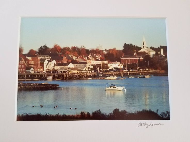 Damariscotta, Maine Waterfront Cathy Newson Photography by WeathervaneHill on Etsy