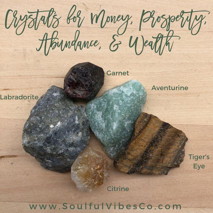 Money, Prosperity, Abundance, & Wealth Crystal Set