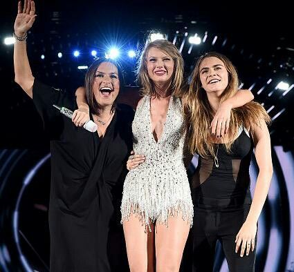 Mariska hargitay and taylor swift and cara delevingne