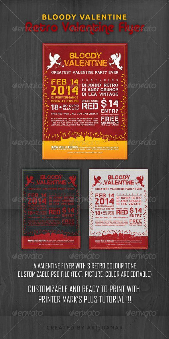 GraphicRiver Retro Valentine Flyer 6708069