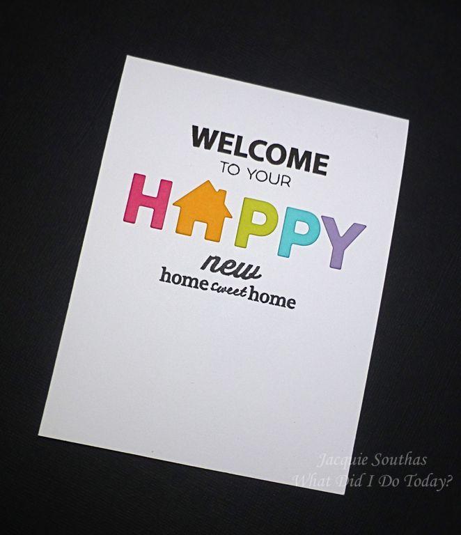 11 best Card idea images on Pinterest   Housewarming card, New house ...