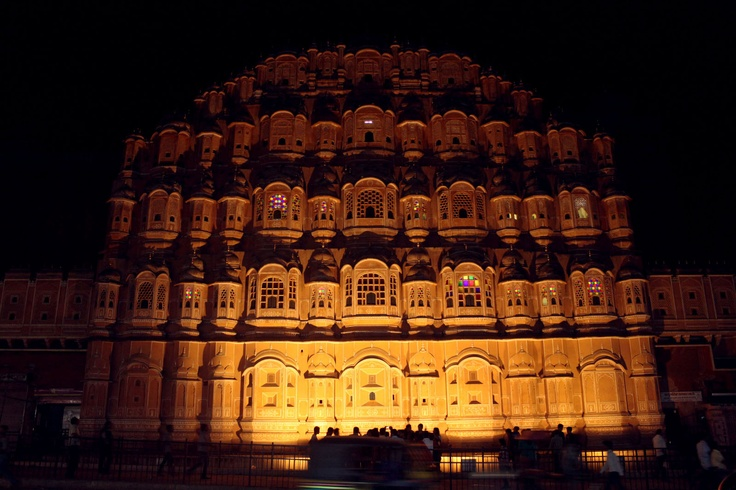 Hawa Mahal is a attraction place of Jaipur, India. It was built in 1799 by Maharaja Sawai Pratap Singh and designed by Lal Chand Ustad. It has five-storey exterior is also akin to the honeycomb of the beehive with it's 953 small windows called jharokhas that are decorated with intricate latticework.