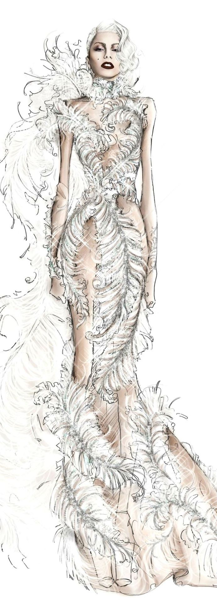 Lady GAGA Fashion Illustrations  Roberto Cavalli for Lady Gaga Cheek to Cheek| Be Inspirational ❥|Mz. Manerz: Being well dressed is a beautiful form of confidence, happiness & politeness