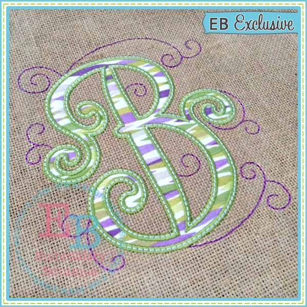 Antique Swirls Applique Alphabet. If only it came in 4x4