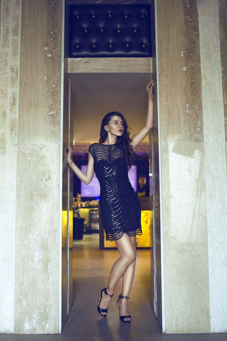 Little black dress, always a good choise.
