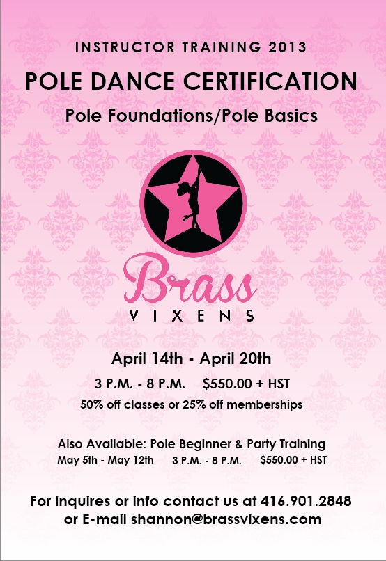 Want to be a pole dance instructor?