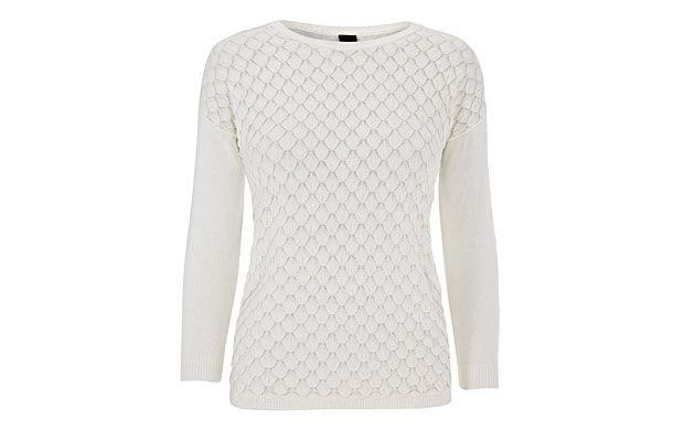 """Mixed Stitch Jumper. """"Call off the search for the perfect summer jumper! Slip into this ultra-soft, delicately stitched version."""""""