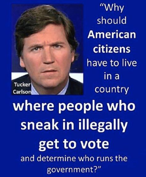 This is exactly correct! Those with no attachment to this country have no right to vote on who runs the government! Unless you are a democrat. Then you want all the future voters you can import illegally. That is their plan, agenda and goal.