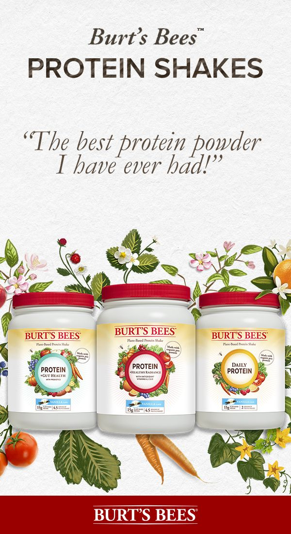 Drink in the best nature has to offer with Burt's Bees Protein Shakes. Our three holistic protein powders provide a range of benefits, are made from organic ingredients, are non-GMO, gluten-free, soy-free and dairy-free. Mixed with your favorite non-dairy beverage, our shakes are silky smooth and full of flavor. Drink it all in!