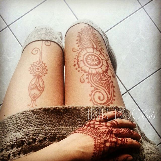 die besten 25 henna bein tattoo ideen auf pinterest. Black Bedroom Furniture Sets. Home Design Ideas