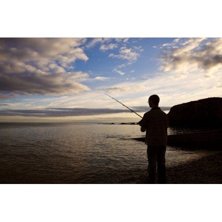 Sea Angling at Stage Cove Near Bunmahon The Copper Coast County Waterford Ireland Canvas Art - Panoramic Images (9 x 27)