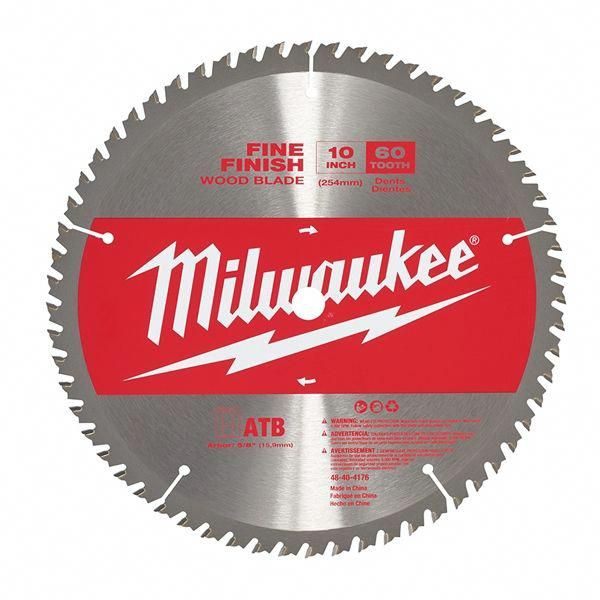 Milwaukee 48 40 4176 10 In 60t Wood Finish Miter Saw Blade Woodworkingtools Diy Table Saw Circular Saw Blades Table Saw Stand