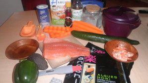 sushis et makis façon tupperware