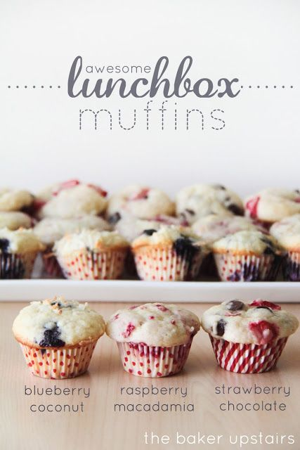 Make lunchbox muffins. One easy muffin base makes three muffins. We'll bake ours with whole grain flour—a homemade treat for school lunches!