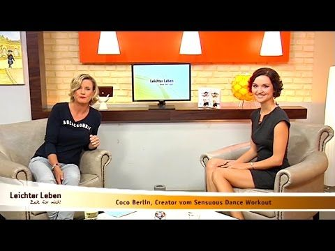 Coco Berlin Interview at Leichter Leben TV [German] Sensuous Dance Workout Sep 2016 - YouTube