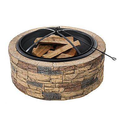 Fire up and get cozy with the Sun Joe® Fire Joe 35-inch cast stone fire pit (model SJFP35-STN). Fire Joe is an ideal outdoor centerpiece for keeping family and friends warm and entertained outdoors when the temperatures start to drop.