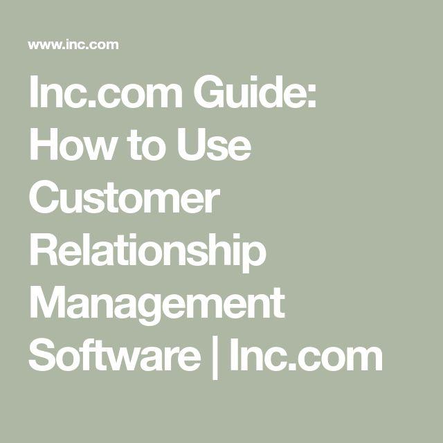 customer relationship management software uses