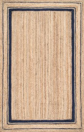 Rugs Usa Navy Boardwalk Jute Braided Saturn Border Rug Sisal Rectangle 8 6 X 11 Products Pinterest Area And