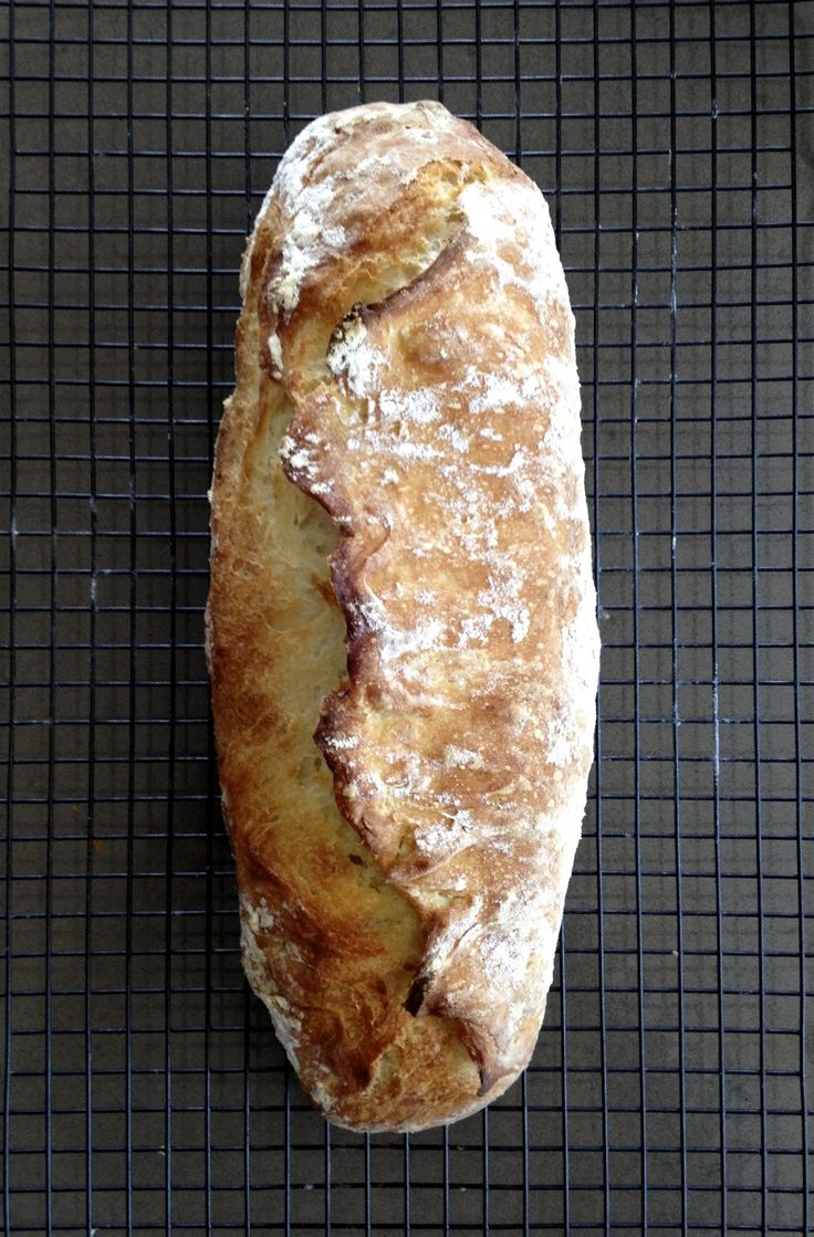 what caroline cooked: Ciabatta