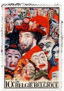 James Ensor prijkt op een Belgische postzegel