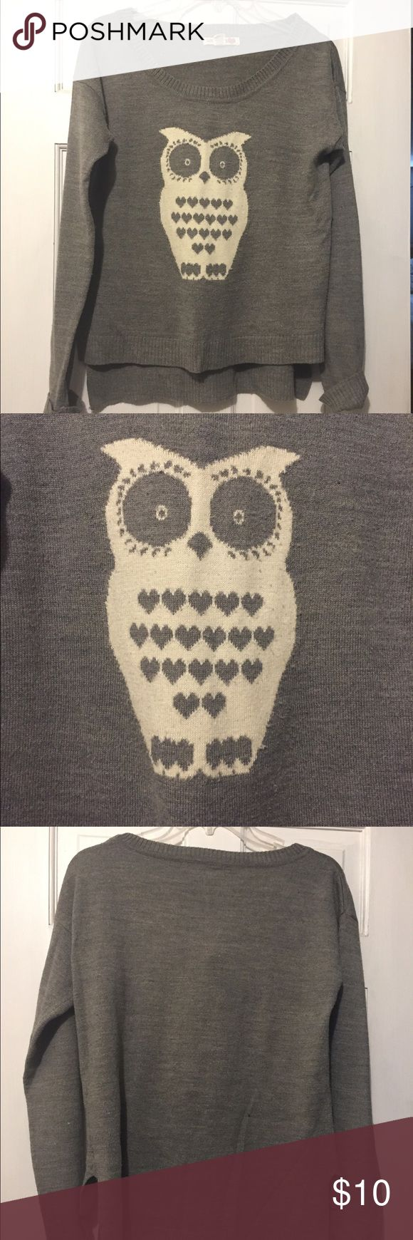 Adorable owl sweater Adorable owl sweater-comfy! Has some pilling but still looks great! Love by Design Sweaters