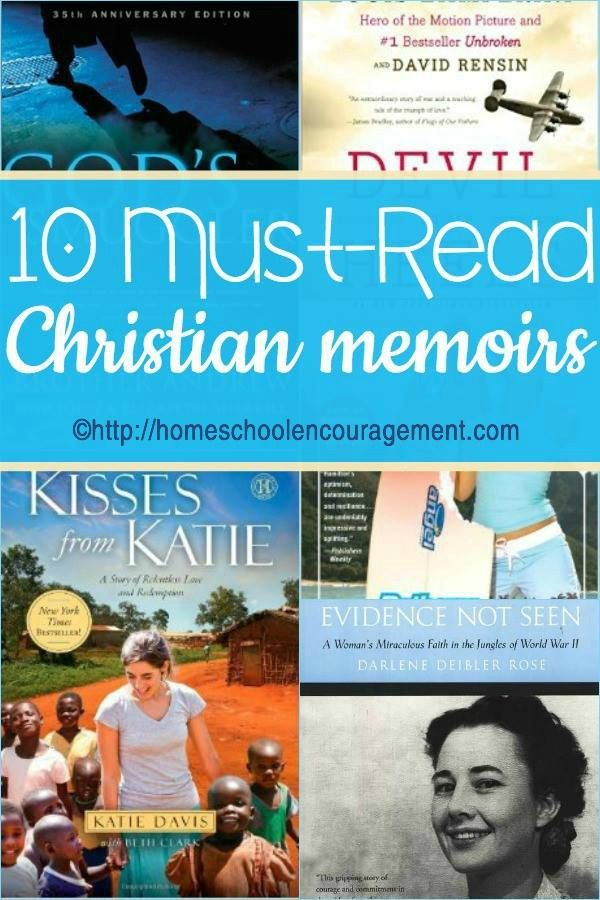 10 Must Read Christian Memoirs from homeschooled teen Samantha Shank.