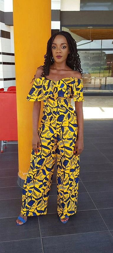 Our Ankara print jumpsuit features this year's trending off-shoulder style.  Closure is a torso length zipper in the back. This jumpsuit reaches floor length for women of all heights. African jumpsuit, Ankara jumpsuit, African print jumpsuit, African romper.  Ankara   Dutch wax   Kente   Kitenge   Dashiki   African print dress   African fashion   African women dresses   African prints   Nigerian style   Ghanaian fashion   Senegal fashion   Kenya fashion   Nigerian fashion (affiliate)