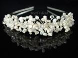 Handmade genuine freshwater pearl tiara: www.pearlisland.co.uk