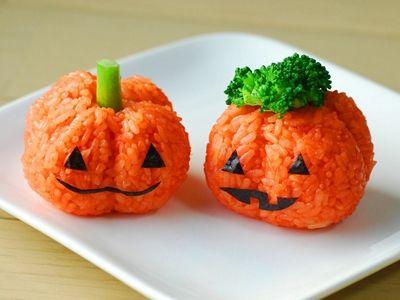 簡単!ジャック・オ・ランタンのおにぎり - てしぱんさんの簡単かわいいおべんとさん レシピブログ - 料理ブログのレシピ満載!