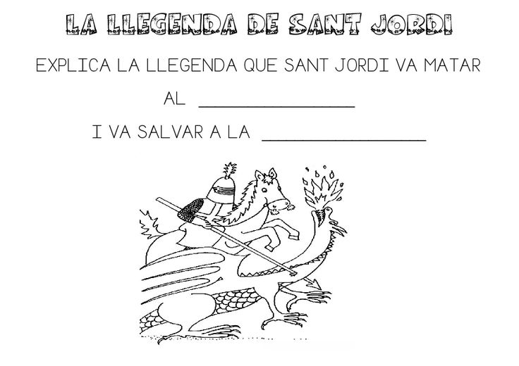 MIRA QUÈ FEM ARA!: Sant Jordi. Fitxeta