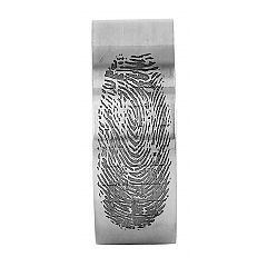 Finger Print wedding ring in sterling silver - $440 http://www.lordcoconut.com/shop/finger-print-ring/
