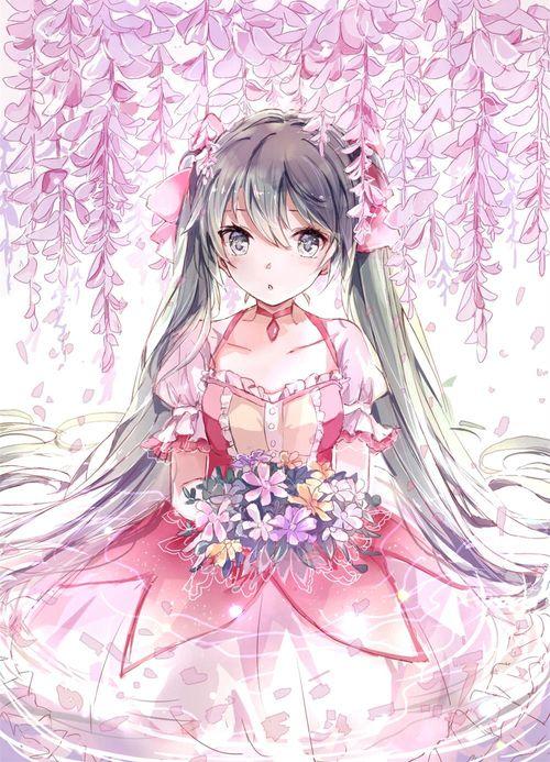 Miku in Madoka's dress