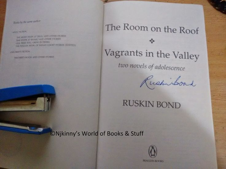 "Got an autograph by Ruskin Bond on my favourite book by him, ""The Room on the Roof""! :) #SoHappy #Autograph #FavouriteAuthor"