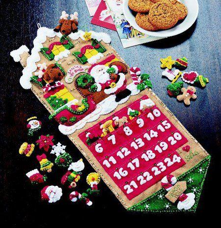 toy shop calendario de adviento de navidad de santa del fieltro kit apliques