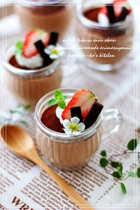 Valentine's chocolate mousse