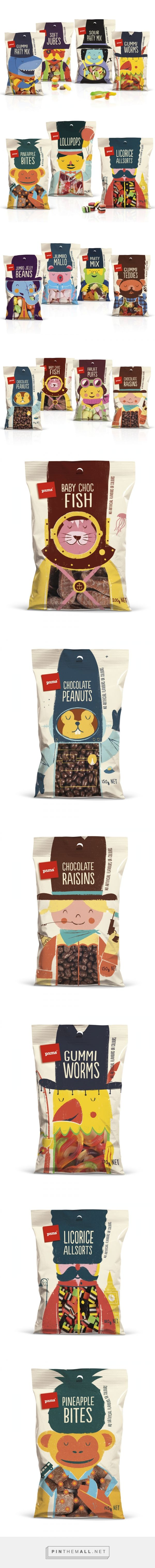 Pams Confectionery Range — The Dieline - Branding & Packaging                                                                                                                                                      More