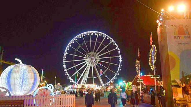 مدينة ألعاب في الرياض رمز لسياسة الترفيه والانفتاح في المملكة في شمال الرياض تستقطب مدينة السعودية ألعاب الأطفال Www Al Fair Grounds Grounds Ferris Wheel