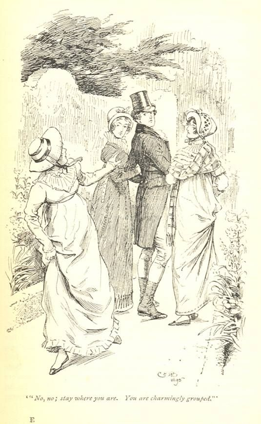 No, no; stay where you are. You are charmingly grouped - Pride Prejudice, 1895