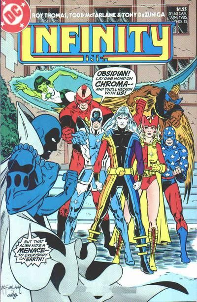 Cover for Infinity, Inc. (DC, 1984 series) #15 | All-Star ...