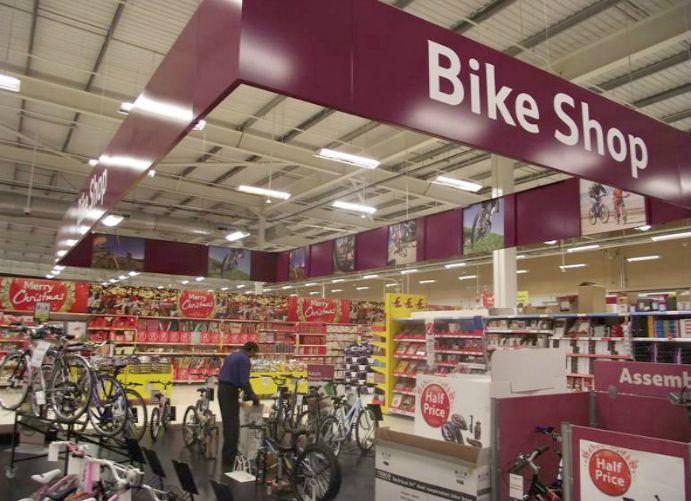 Adglow bike store display