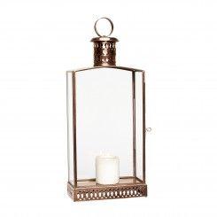Lanterne i glas og kobber. Pris 499,- Fri fragt Smuk og elegant lanterne 9x18xh45 cm